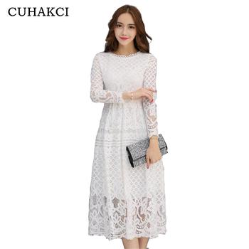 Elegant Ladies Bridesmaid White Dress Lace Floral Boho Bodycon