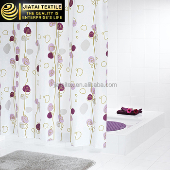 Bath Curtainprinted Shower Curtainpolyester Peva Curtain