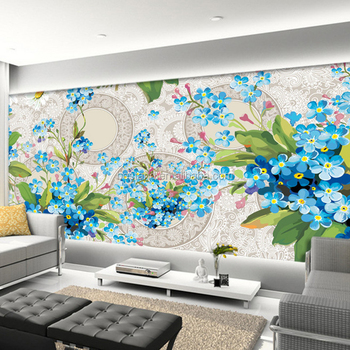 2017 Top Selling Wall Art Large 3d Flower Paintings Bedroom Photo Murals Wallpaper