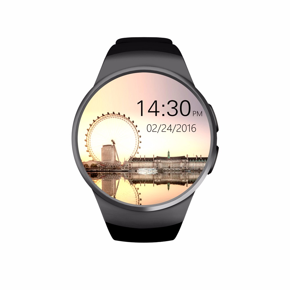GSM Smart watch <strong>SIM</strong> 2017 hot selling smart watch Kw18 with round GPS touch screen China Supplier