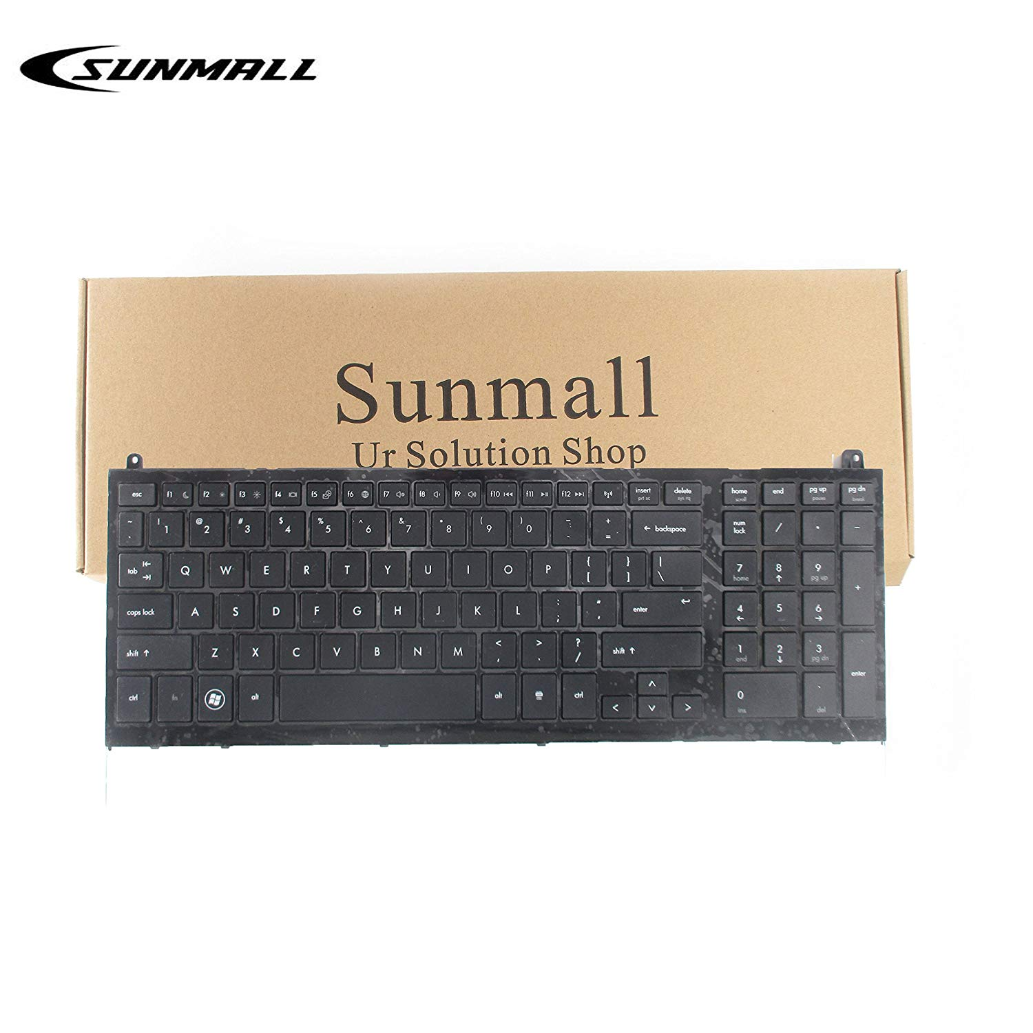 SUNMALL Keyboard Replacement with Frame for hp probook 4520s 4525s Series Laptop Black US Layout(6 Months Warranty)