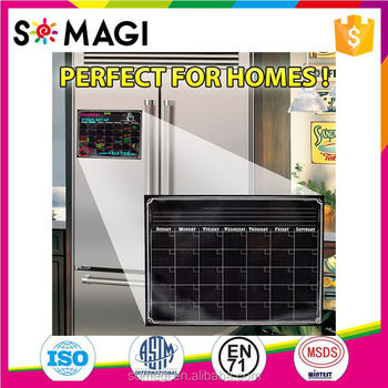 monthly magnetic calendar for refrigerator dry erase white board