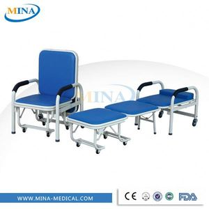 MINA-P1 folding Attendant reclining bed chairs elderly folding chair