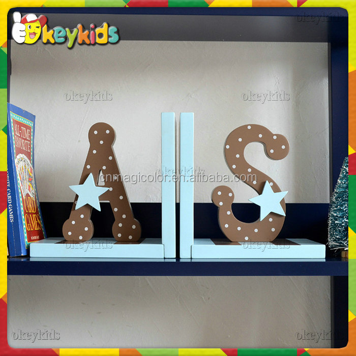 2016 wholesale kids wooden letter bookends,cheap children wooden letter bookends,sale baby wooden letter bookends W08D063