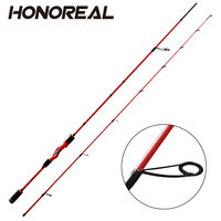 "Red Color 180mm 6"" Pure carbon Spinning Fishing Rod"