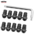 BJ-Screws-2008 10Pcs 5mm Windscreen Bolts Kit Motorcycle Windshield Screw Mounting