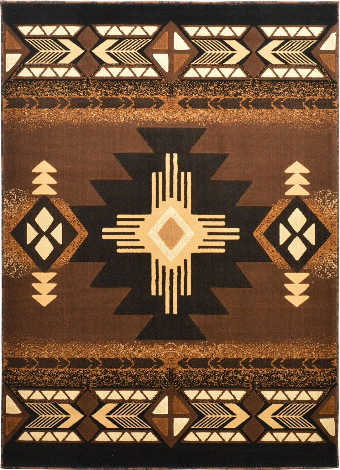 Get Quotations Rugs 4 Less Collection Southwest Native American Indian Door Mat Area Rug Design R4l 318 Brown