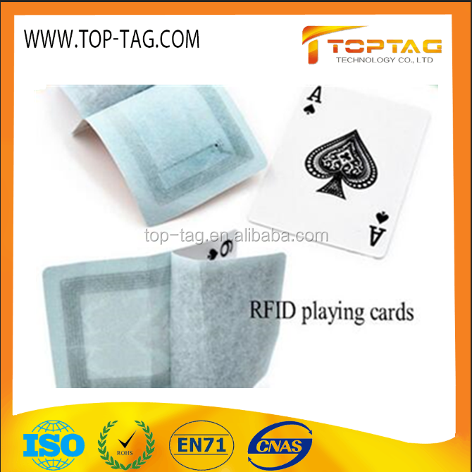 Plastic Smart RFID Poker Cards / Programmable RFID Playing Cards for Game Entertainment