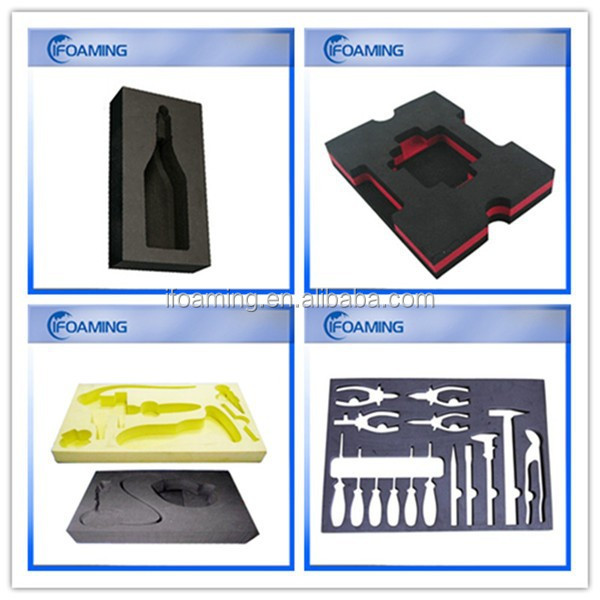 eva foam pe foam die cutting for packing,case foam insert