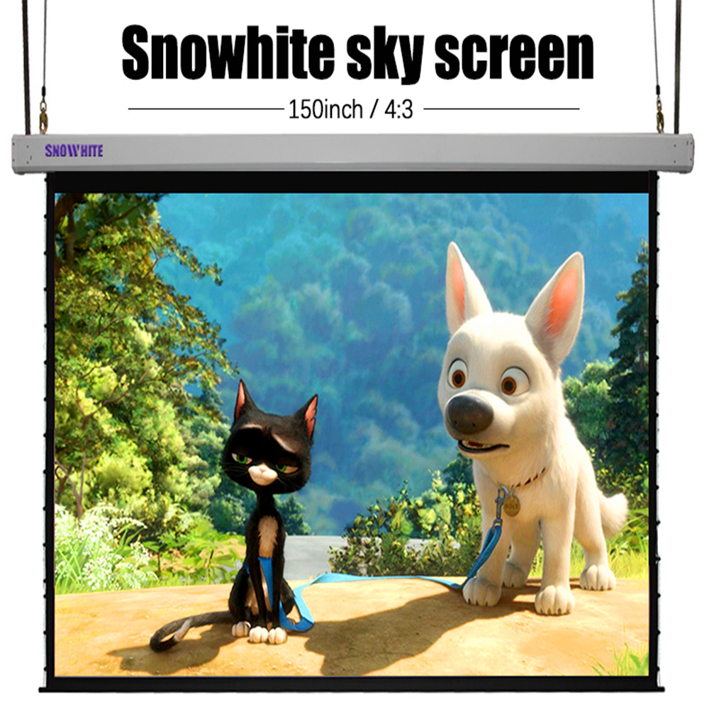 "150"" 4:3 SNOWHITE Format Sky Screen Electric Projection Screen"