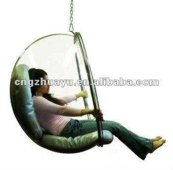 pop acrylic hanging bubble chair hya002