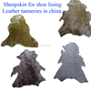 Genuine sheepskin for shoe lining,leather tanneries in china