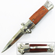 6.3 Inch wood handle stainless steel outdoor small safety folding gift knife