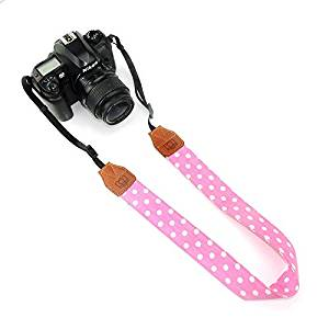 CHMETE Polka Dots Universal Adjustable Camera Neck Strap for DSLR Camera Polaroid Fujifilm Instax Mini