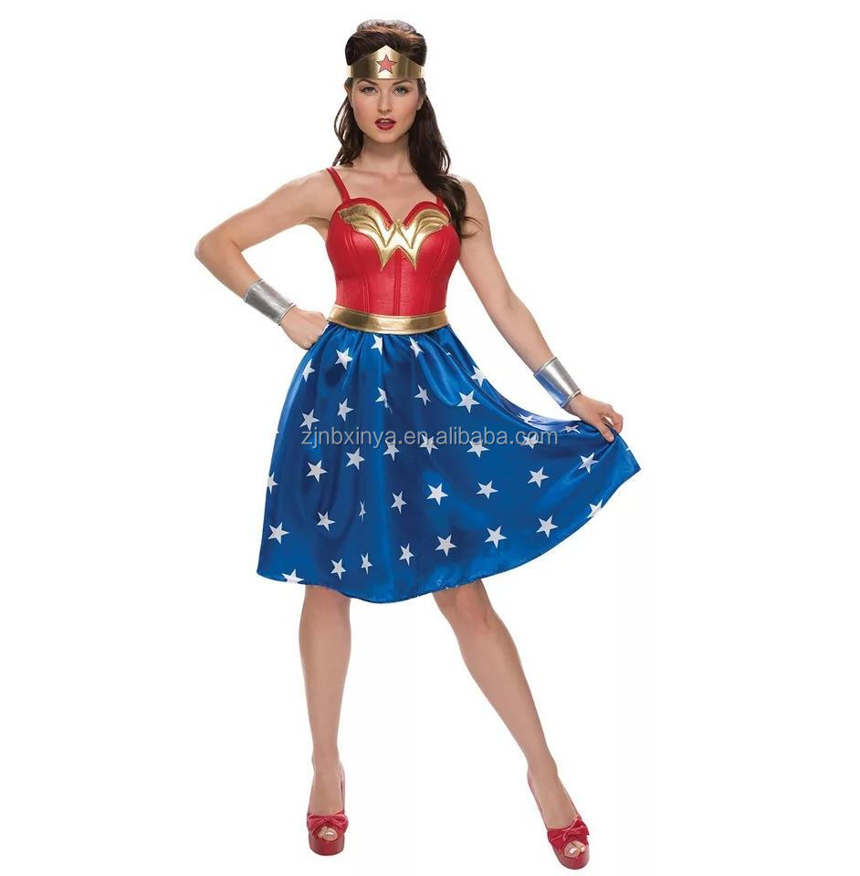 Sexy Halloween Karnevalsparty Erwachsene Frauen Wonder Woman Kostüm Cosplay Kostüme