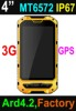 Best durable cell phone IP67 4 inch rugged android phone with NFC unlock best outdoor cell phone