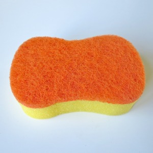 Number 8 Shape Polyester Wool Floss Kitchen Washing Sponge, Non-abrasive Fast Cleaning Sponge Scourer Pad