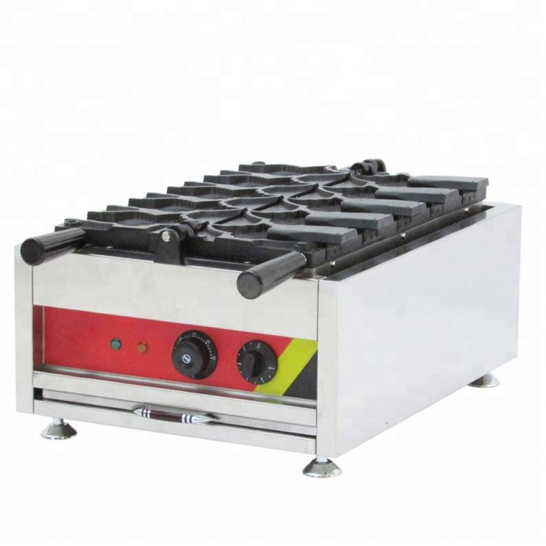 <strong>electricity</strong> taiyaki fish-shaped maker waffle fish machine with 8 fishes ice cream