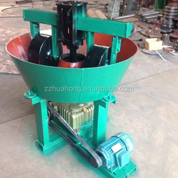 Small gold ore grinding mill, small wet pan mill, small gold grinding machine for gold