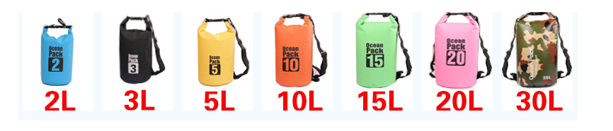 OEM LOGO PVC Waterproof air Dry Bag for Boating and Camping