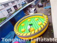 New Inflatable wipeout sports game, inflatable wipe out eliminator