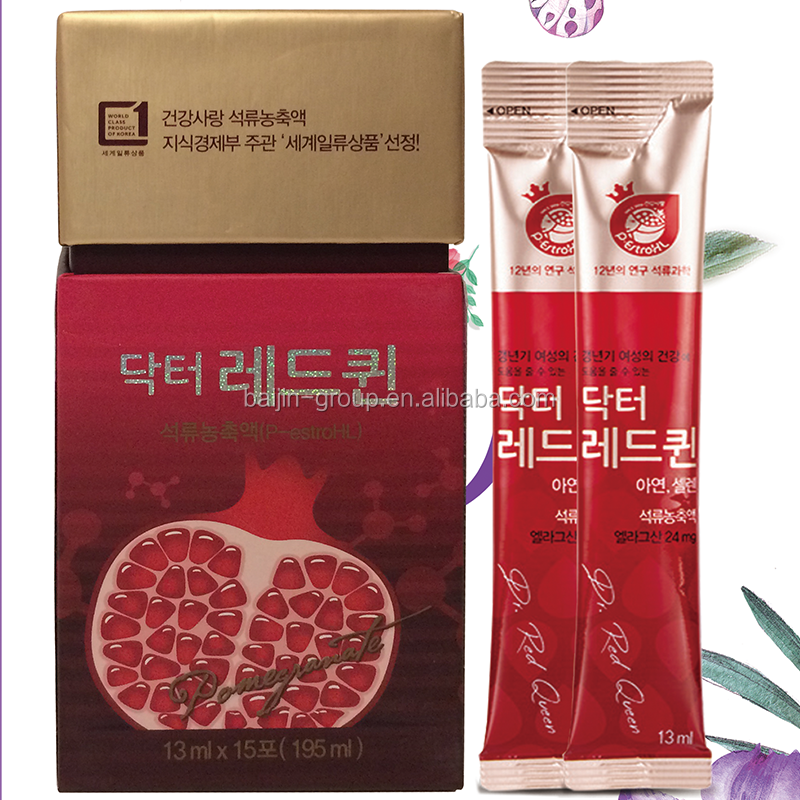 Dr. Red Queen pomegranate concentrate beverage contains vitamin C