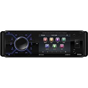 """Boss Audio Systems - Boss Bv7345 Car Dvd Player - 3.2"""" Lcd - 68 W Rms - Single Din - Dvd Video, Video Cd, Mp4, Avi - Am, Fm - Secure Digital (Sd), Multimediacard (Mmc) - Auxiliary Inputipod/Iphone Compatible - In-Dash """"Product Category: Automotive & Marine Audio/Video/Automotive & Marine Video"""