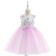 Kids Apparel Party Wear Sleeveless Princess Wedding Flower Dress For 8 Year Old Girls L5024