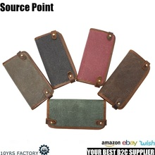 YD-3005 New model free sample wholesale popular canvas ladies washed canvas card holder wallet