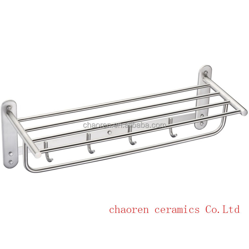 Modern Kitchen bathroom accessory stainless steel Rail Holder Storage towel shelf Towel Rack toilet holder