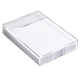 Desktop Simple Rectangular Clear Acrylic Lucite Notepad Holder