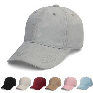 Lower MOQ 6 Panel Suede Dad Hat Plain Baseball Cap Hat