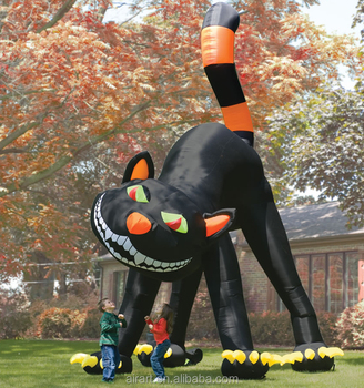 Large Inflatable Halloween Black Cat Lawn Decoration Buy Black