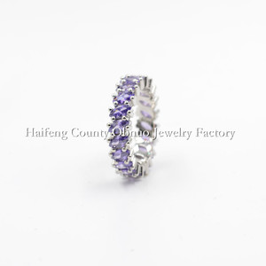 C133 Simple unique amethyst violet ring engagement and elegant wedding jewellery rings,purple Ring Wholesale Fine Supplier