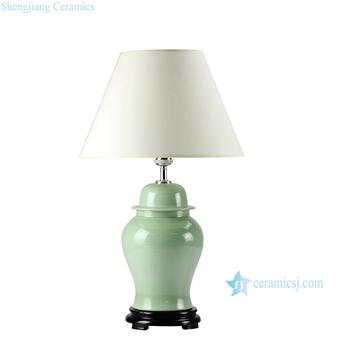 Ds55 Rynq Lime Green Glaze Oriental Ceramic Table Lamps