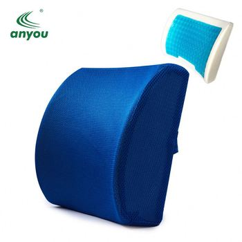 new products 2018 innovative product gel memory foam back cushion lumbar support health pillow