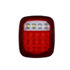 16 LED wrangler tail stop turn signal backup reverse brake clearance marker lights lamps red/white for truck trailer Jeep