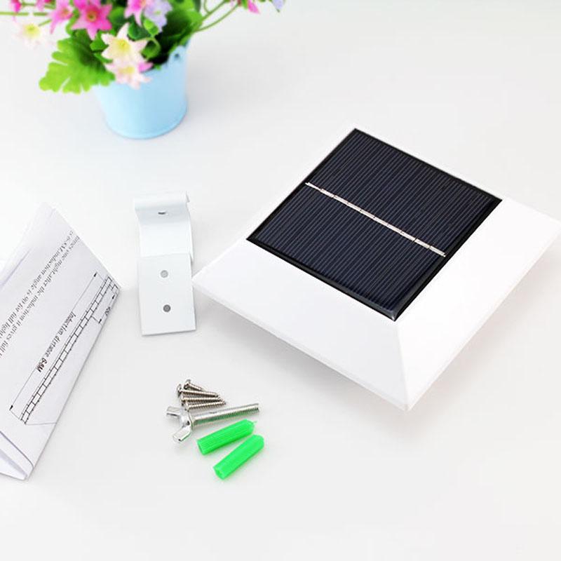 Motion Sensor Light 4 Led Square Outdoor Garden Fence Led Solar ...