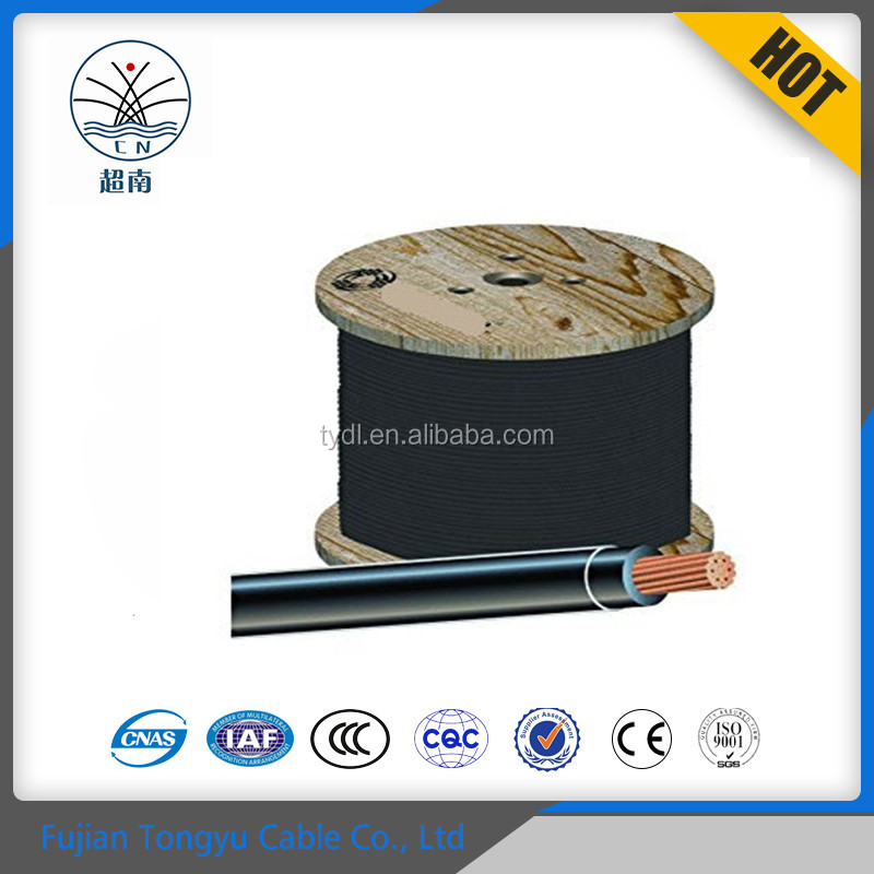 China Manufacturer THHN THWN Cable Wire Size AWG 8 10 12 14 16 Copper / PVC / Nylon Electric house wiring cable
