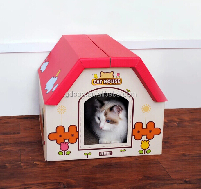 Pretty Cardboard Cat House From China And Cat Houses For