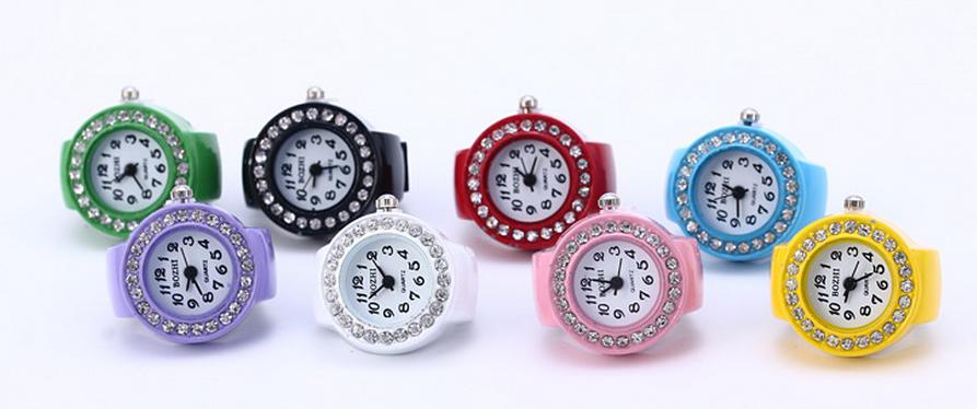 2ee3c4024dd B326 mulheres acessórios de moda Strass Pedra Jóias Anel de Dedo Relógio  para Presentes ...