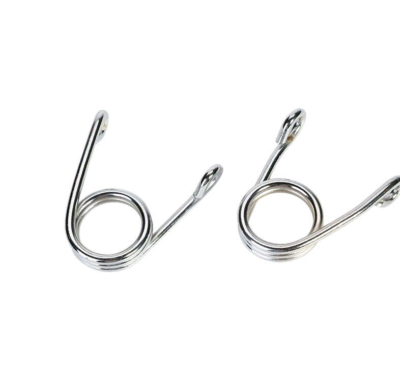 Wholesale precision nickel plated passivated twist double hooks coil torsion spring for sale
