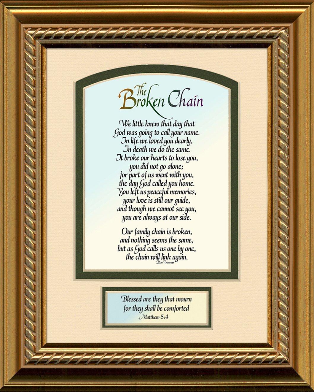Buy Sympathy Poem Broken Chain With Scripture Matthew 1128 Photo