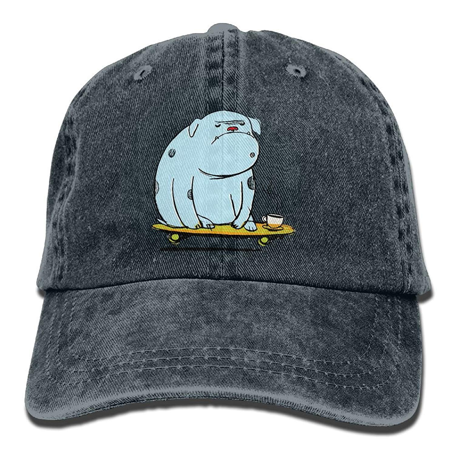 Get Quotations · Hhil Swater Unisex Abstract Hippo Skate Coffee Adjustable  Denim Baseball Caps Cowboy Peaked Hats aa1d673664f
