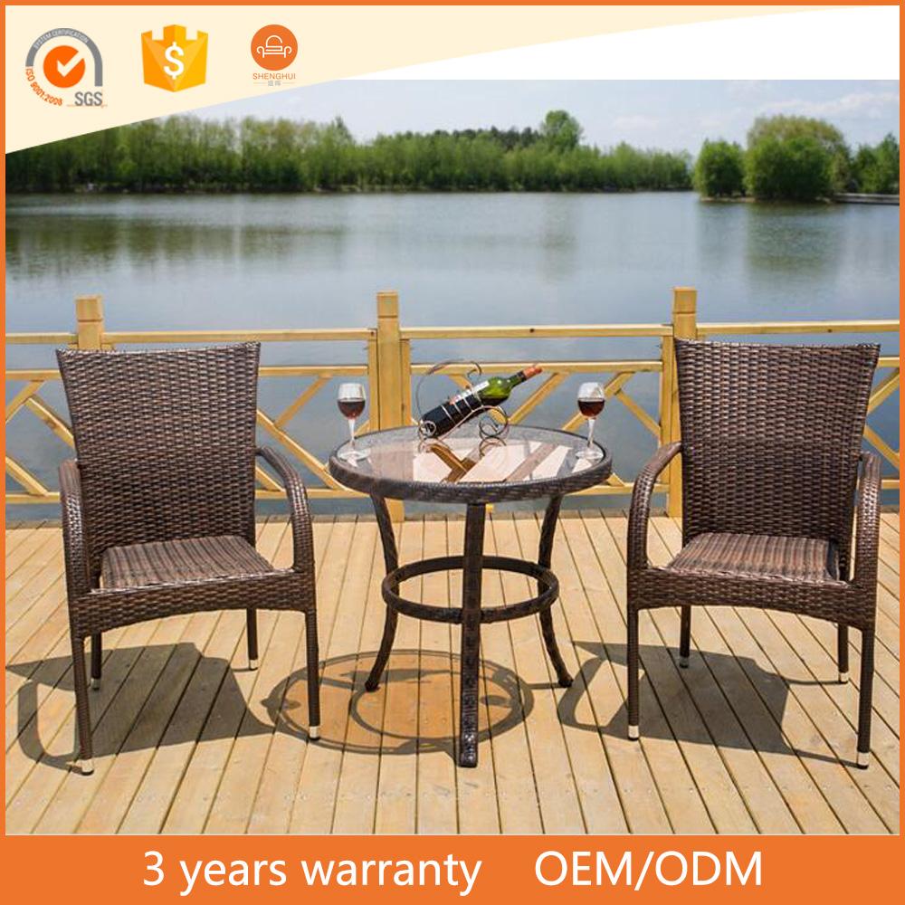 Mesa redonda de vidro e 2 4 6 cadeiras brown rattan mesa for Ar 11 6 table 6 2