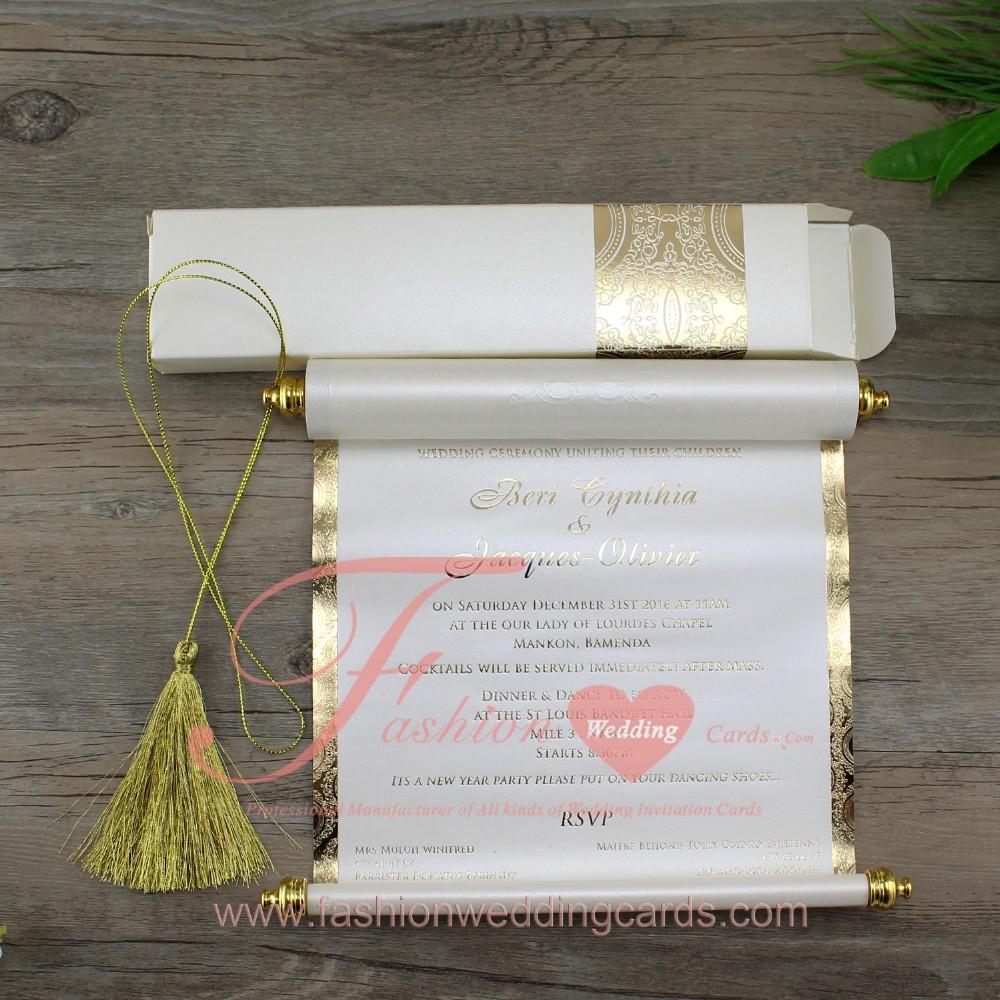 Hot Sale Cheap Price Scroll Wedding Wedding Invitation Cards