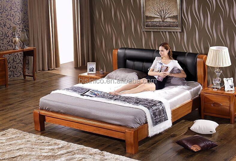 Letti Di Lusso In Pelle : Bisini di lusso in legno letto matrimoniale testiera in pelle