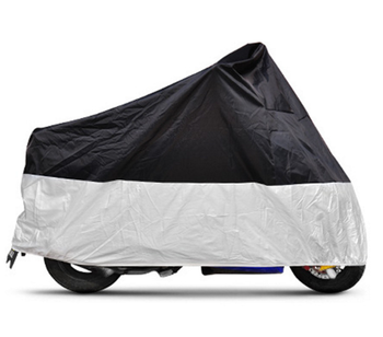 190T Polyester Oxford Silver Coated Waterproof Dustproof Sunscreen Motorcycle Cover S, M, L and XL (BT 6020)