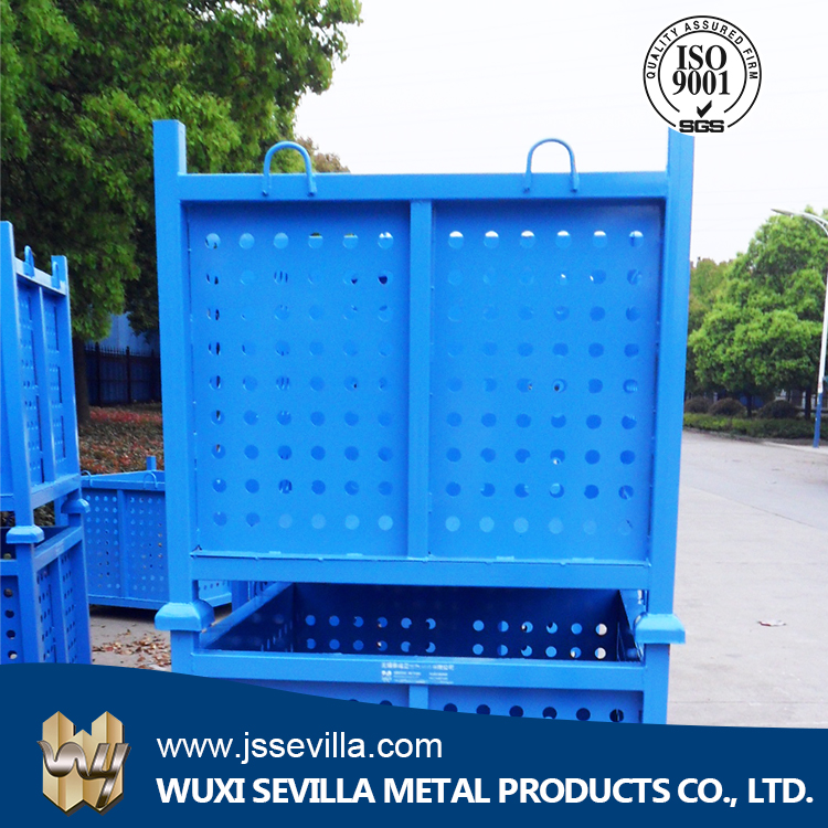 Imported Material Pallet Plastic Container For Factory Website Selling Steel Material Storage Container Galvanized Foldable Cage