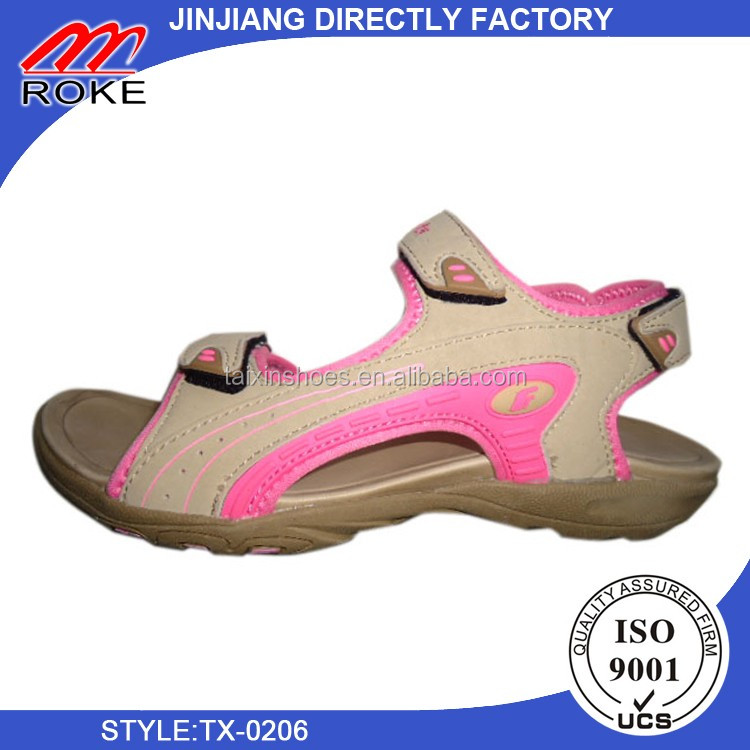 fashionable summer outdoor sport women leather sandals